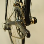 Clean chain road bike