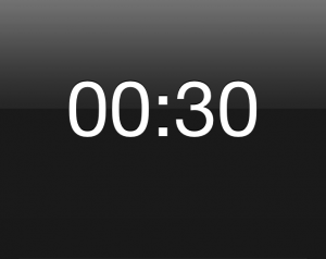 Thirty Second timer setting for interval training