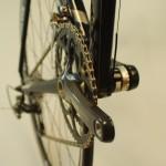 Clean chain road bike
