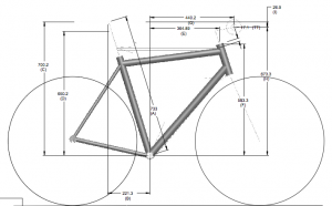 Custom Bicycle CAD drawing